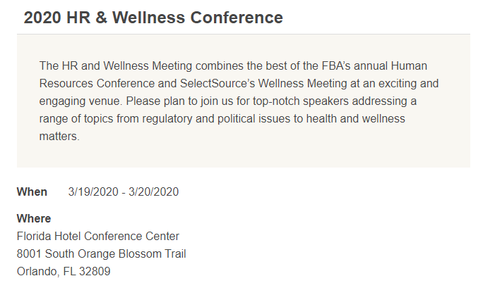 2020 HR & Wellness Conference