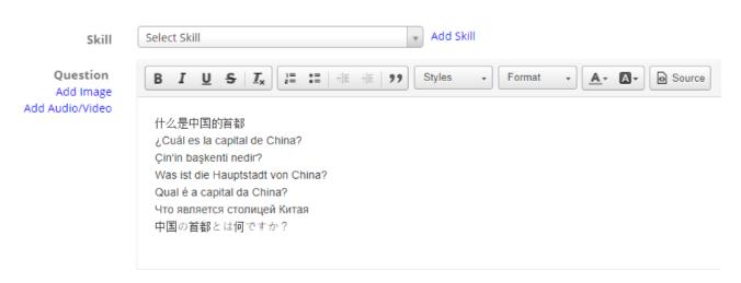 Add Multilingual Questions