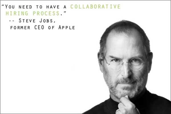 Collaborative hiring process Steve Jobs