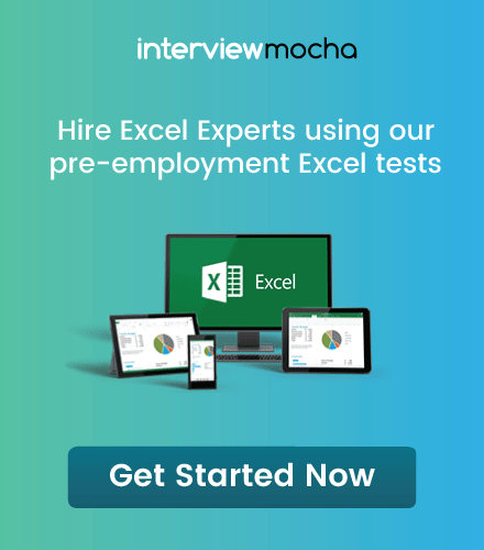 Go to Pre-employment Excel Test