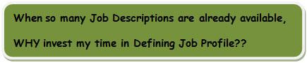 defining job profile