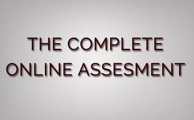 complete online assessment