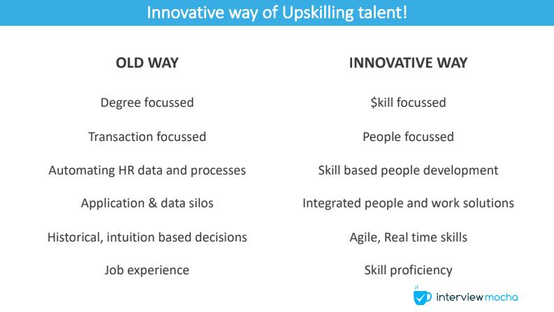 innovative way of upskilling talent