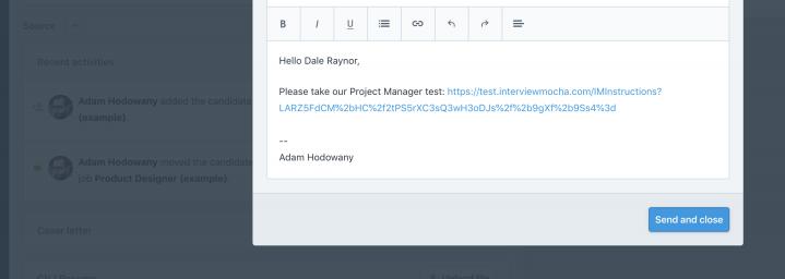 link in your inbox